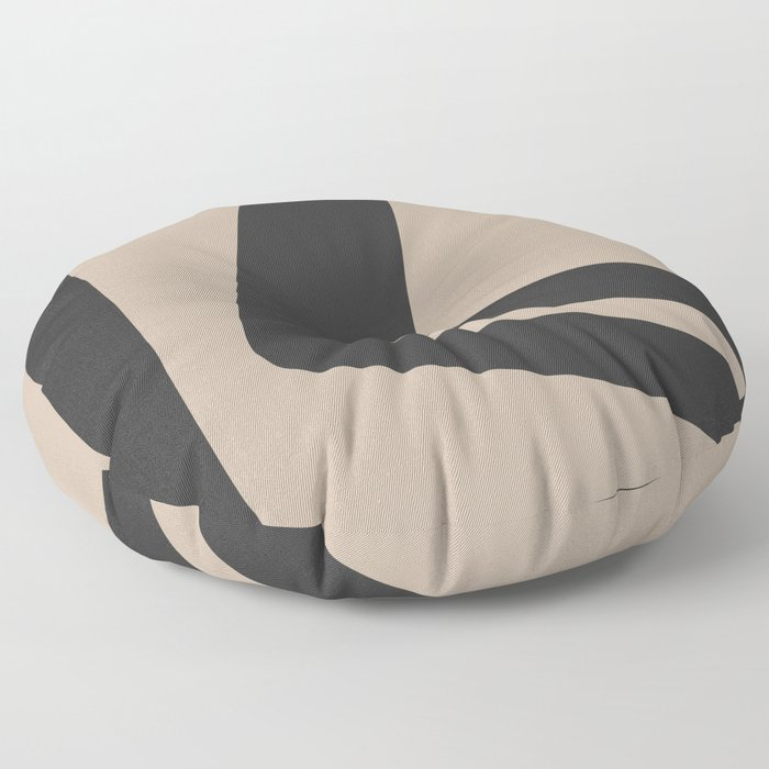 Neutral Abstract 4B Floor Pillow
