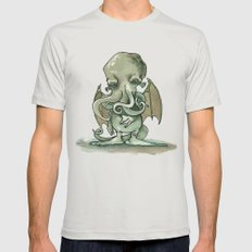 Cthulhu Mythos SMALL Silver Mens Fitted Tee