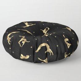 Black and Gold Gymnastics Floor Pillow