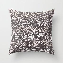 Doodle 10 Throw Pillow