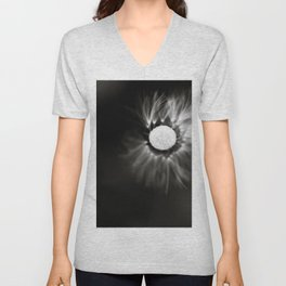 flyig smoothly like a blow ball flower Unisex V-Neck
