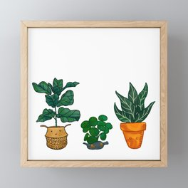 Potted Plant Critters 3 Framed Mini Art Print