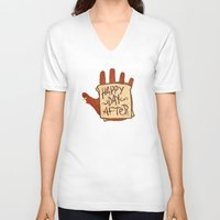 turkey V-neck T-shirts featuring TURKEY SAMMIDGES by Josh LaFayette