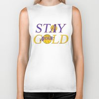 lakers Biker Tanks featuring Stay Gold by Ant Atomic