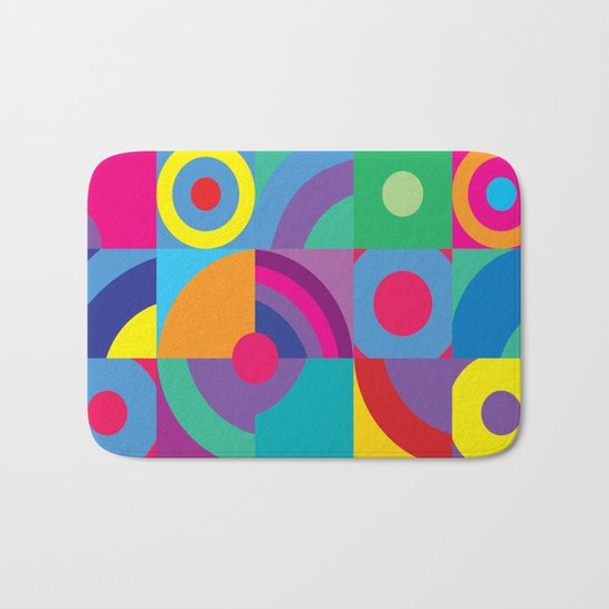 Geometric Figures in color Bath Mat