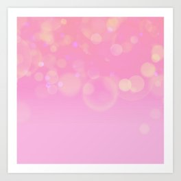 Fading Pink with Soft Bokeh Art Print