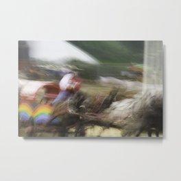 Chuckwagon races Metal Print