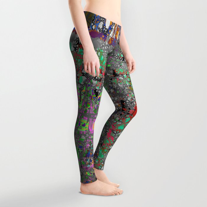 comic crash bang booom Leggings