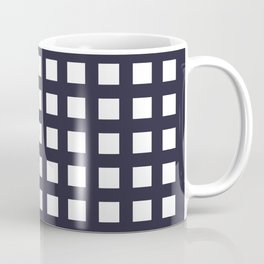 Thick Dark blue grid pattern Coffee Mug