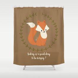 Renard roux // Red fox Shower Curtain