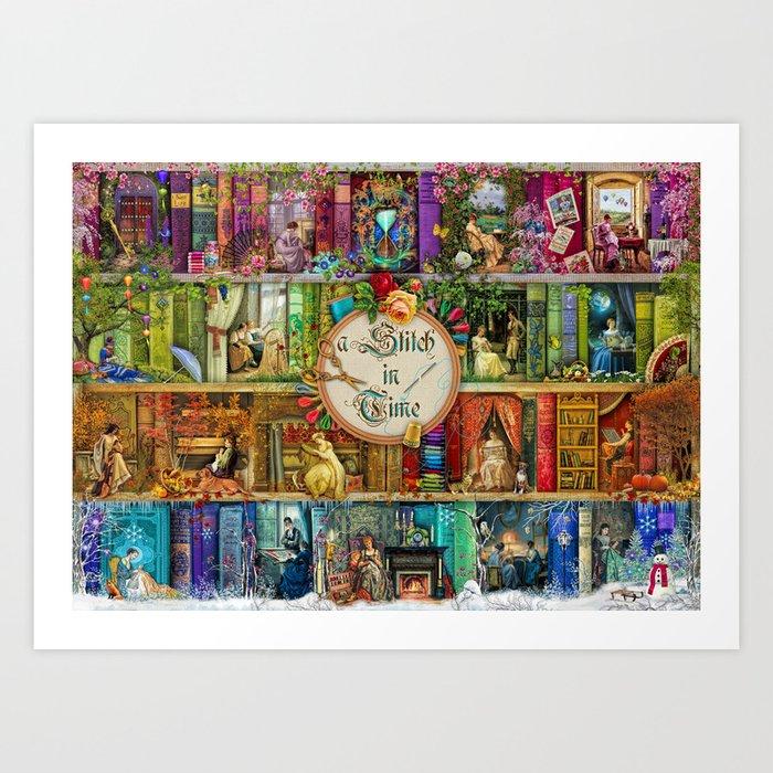 A Stitch In Time Kunstdrucke
