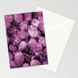 Pattern purple Lotos Flowes Stationery Cards