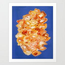 Orange lips Art Print