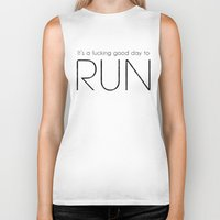 run Biker Tanks featuring RUN by Adel