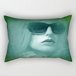 emerging from the shadow -3- Rectangular Pillow
