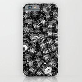 Chrome dumbbells iPhone Case