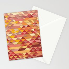 Triangle Pattern no.4 Warm Colors Red and Yellow Stationery Cards