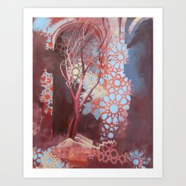 Constellation of Wood Art Print