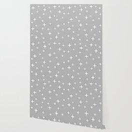Mid Century Modern Star Pattern 443 Gray Wallpaper