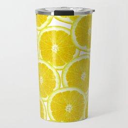 Summer Citrus Lemon Slices Travel Mug