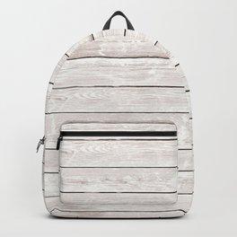 Rustic ivory white vintage wood Backpack