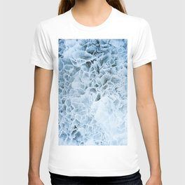 Dark blue pattern of ice. T-shirt