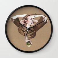 apple Wall Clocks featuring Apple by fabiotir