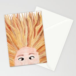 Autumn in Her Hair Stationery Cards