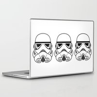 stormtrooper Laptop & iPad Skins featuring Stormtrooper by Nicole Dean