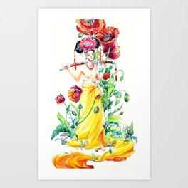 Pods & Poppies Art Print