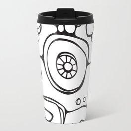 Orbs N Lines - Scribbles 01 Travel Mug