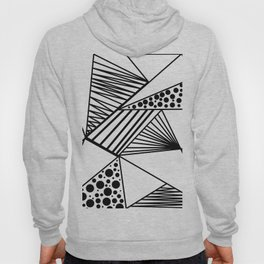Modern abstract black white geometric stripes polka dots Hoody