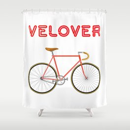 VeLover – Racer 2 – June 12th – 200th Birthday of the Bicycle Shower Curtain