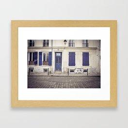 Streets of Montmartre Paris Framed Art Print