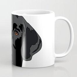 Duke the black lab Coffee Mug
