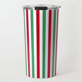 Christmas Small Even Stripes Travel Mug