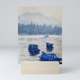 Boats in the Water Mini Art Print
