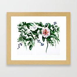 can't get enough flowers Framed Art Print