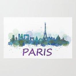 Paris City Skyline HQ Rug