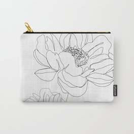 Minimal Line Art Flowers Carry-All Pouch