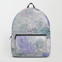 Nostalgic Pastel Flower Art Backpack