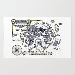 Neverland Illustration  Rug
