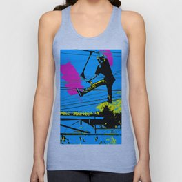 Tailgating - Stunt Scooter Tricks Unisex Tank Top