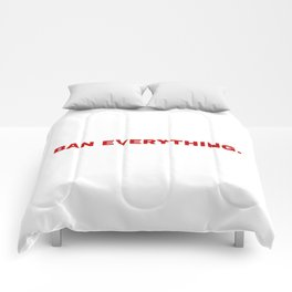 ban everything. Comforters