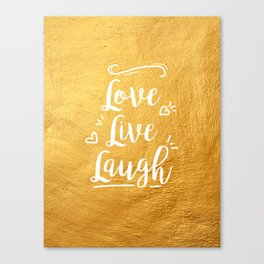 Love Live Laugh Canvas Print
