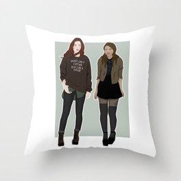 modern day maxanne Throw Pillow