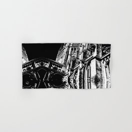 Cambridge Spires in Black & White Hand & Bath Towel