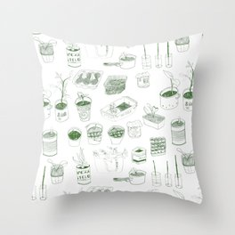 Cover, CONTAIN, Compost - 2 of 3 Throw Pillow
