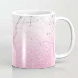 Pink Gold Glitter and Grey Marble Coffee Mug