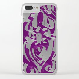 3D Ornamental Background Clear iPhone Case